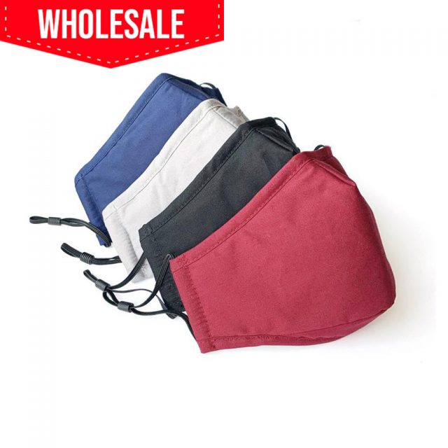 Wholesale Washable Cotton Mask With Filter Pocket for PM2.5 Activated Carbon Filters