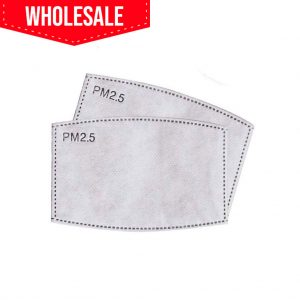 Wholesale PM2.5 Activated Carbon Filter Inserts For Washable Cotton Face Masks With Pocket