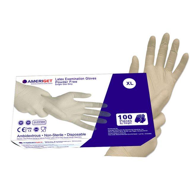 Natural High Grade Rubber Latex Gloves