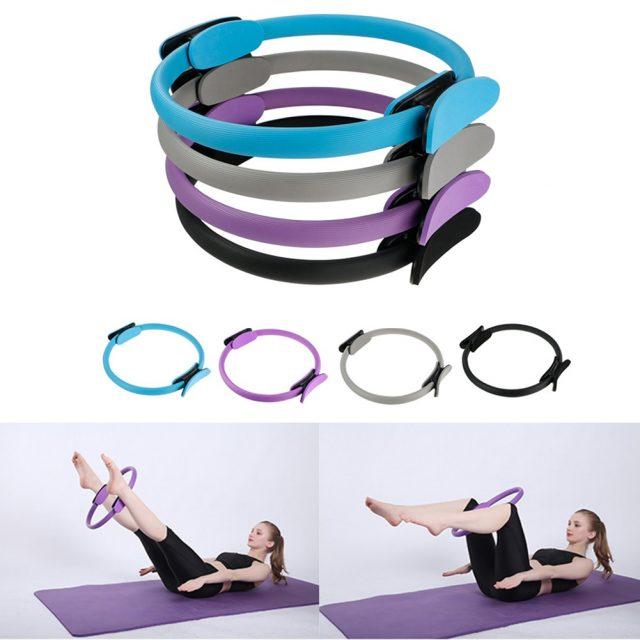Yoga Circle Pilates Ring Lightweight Portable Non-slip Men Women Gym Fitness Workout Sports Keep Fit Equipment
